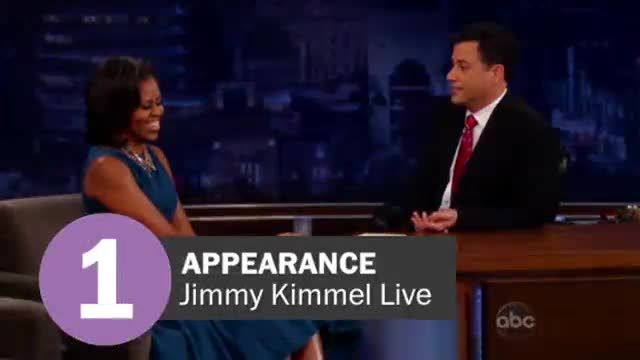 News video: Michelle Obama's late night appearances by the numbers
